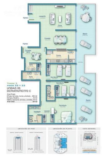 icon brava, piso alto, 3 dorm, 3 baños, toilette, imponente vista, disponible verano  2019!