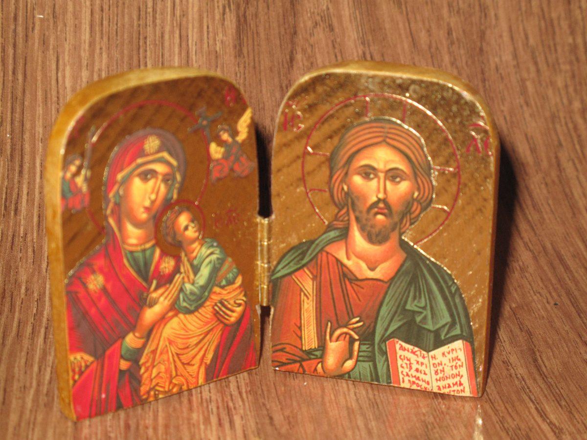 Icono De Jesus Y La Virgen Maria Estilo Bizantino 59500 En