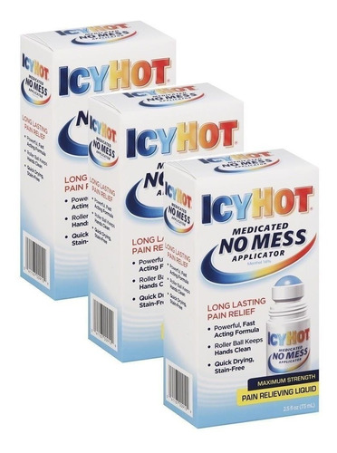 icy hot roll on lesiones deportivas 3 pack de 2.5oz  73ml