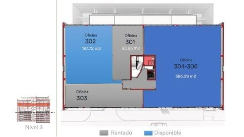 id:101536, excelentes oficinas en renta desde 75 mts2 hasta 386mts2 con un costo de $380 pesos por m2. todas las oficinas incluyen: - climas - pisos - plafones - iluminación - contactos - coc