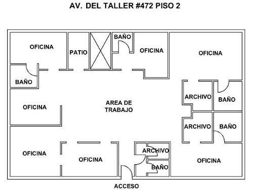 id:58385, renta de oficina en av. del taller esquina con francisco del paso y troncoso. se trata de un inmueble de 3 niveles con locales comerciales en planta baja y oficinas en la parte superior. la