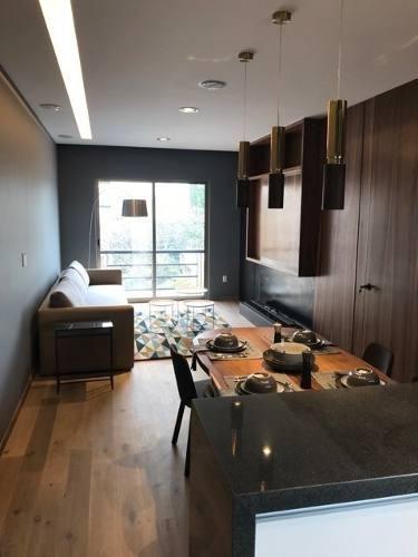 id:79624, increíble pequeño departamento con acabados y muebles de súper lujo, listo para ocuparse. consta de una recámara, pequeño cuarto de lavado y todo lo necesario para llegar y sentirte en el