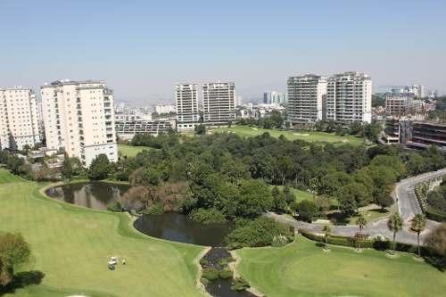 id:79842, precioso departamento en venta en club de golf bosques, con vista espectacular, terminados de lujo y estricta seguridad. ubicado en el edificio robles en el piso 9.cuenta con vestíbulo, b