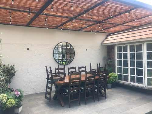 id:80204, hermosa casa completamente remodelada con amplio jardin, sala de juegos con bar y terraza techada.ubicada en el mejor circuito de satelite.   para mayores informes con lulú pozo pietra san
