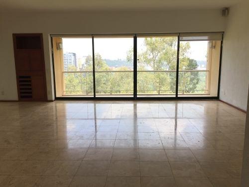 id:80214, en venta precioso departamento en exclusivo condominio secoyas en la loma santa fe en piso 3, muy iluminado con preciosa vista.el departamento es de 242m2 más la terraza cubierta. amplia