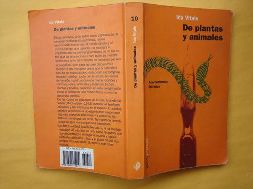 ida vitale, de plantas y animales, paidós, méxico, 2003, 274