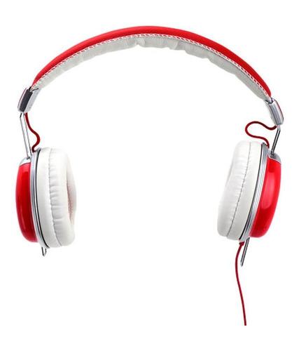idance auricular vincha c/ microfono funky 200 color rojo