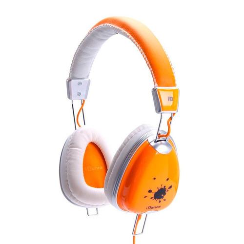 idance auricular vincha c/ microfono funky 300 color naranja