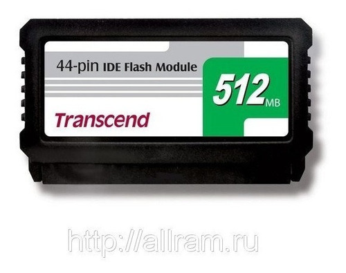 ide flash module dom 44 pinos 512mb transcend ts512mdom44v-s