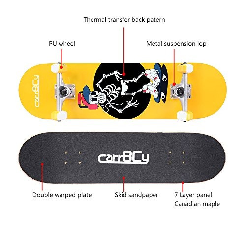 idea skateboards31x 8 pro completo skateboard 7 capas canadi