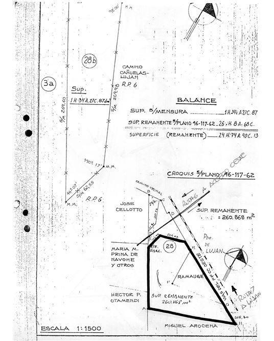 ideal campo 24 has. p/ inversion en gral rodriguez
