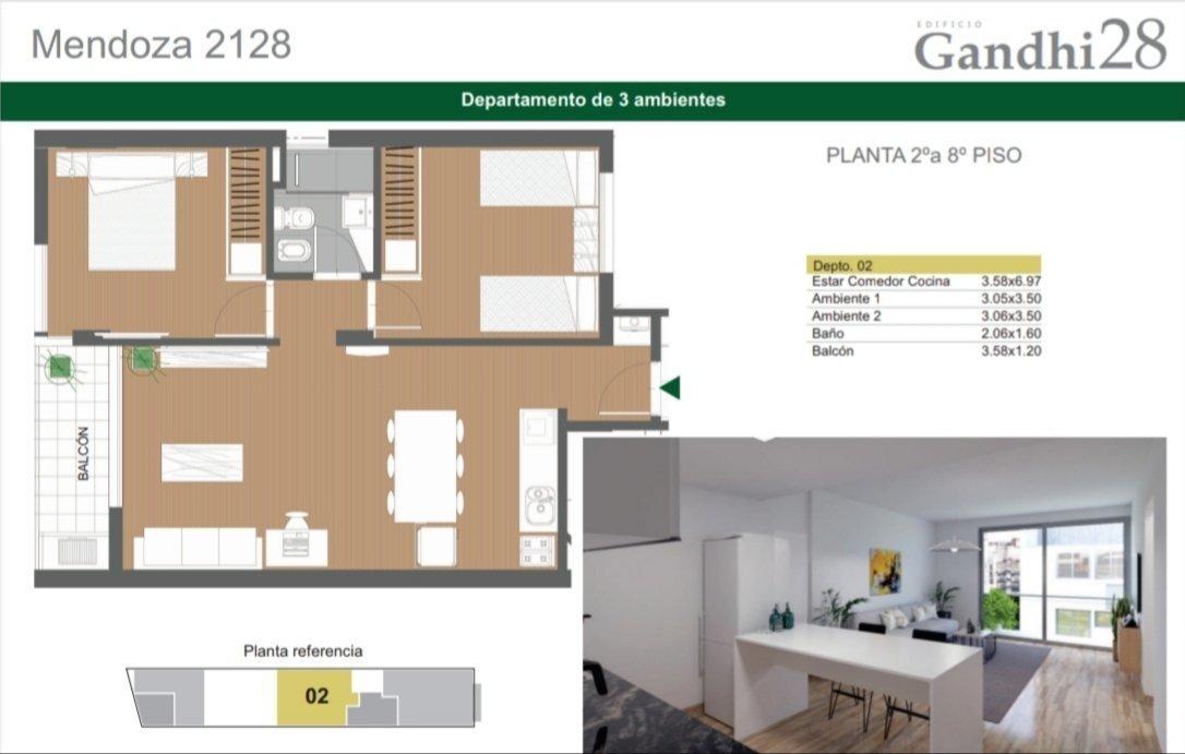 ideal inversion - departamento 1 dormitorio - centro de rosario - amplia financiacion