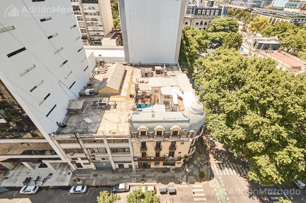 ideal oficina/consultorios. piso alto, vista al río. seg. 24hs. metros de pto. madero