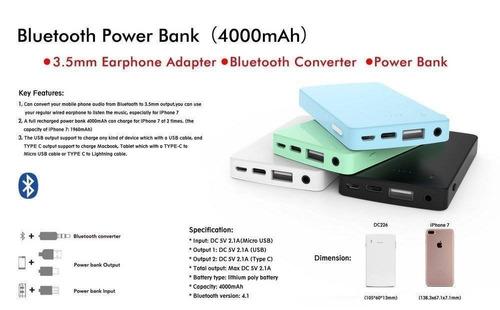 ideaology banco de energía portable de blueto + envio gratis