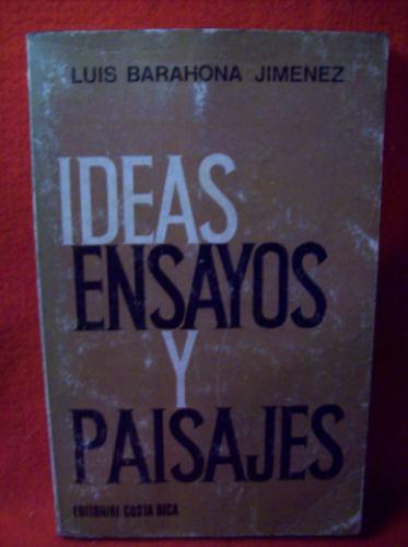 ideas ensayos y paisajes luis barahona jimenez sociologia