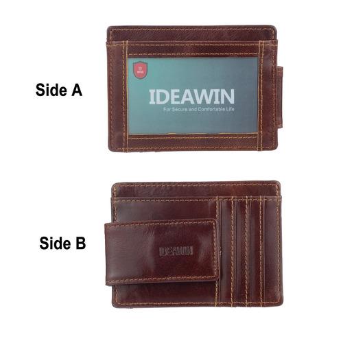 ideawin rfid bloqueo minimalista bolsillo frontal bolsillo p