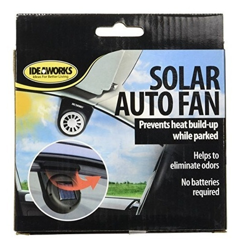 ideaworks solar auto fanvent 1pack