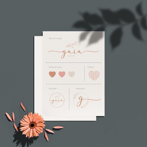identidade visual - logo - mini kit com cartão de visita