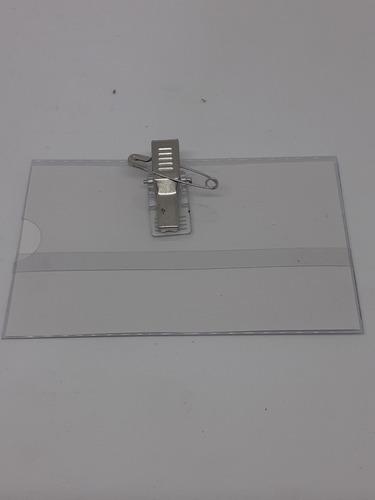 identificador con broche y alfiler caja x 50