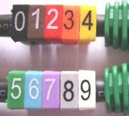 identificador de cabos - anilhas - pacote com 500 unidades