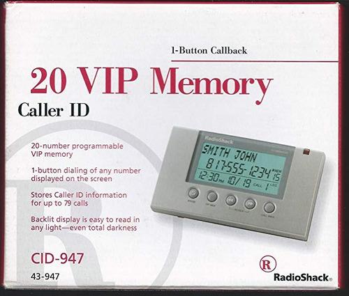 identificador de llamadas - 20 memoria vip - modelo 43-947 -