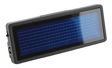 identificador led hd smart azul usb programable