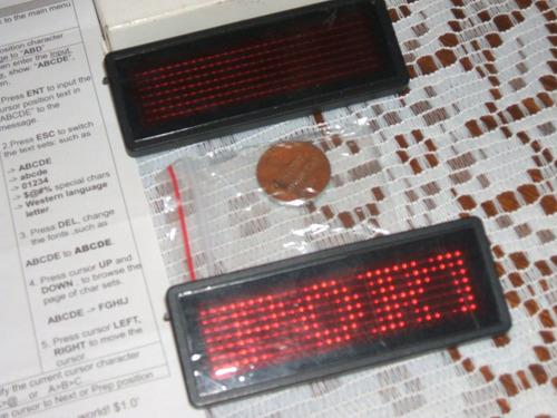 identificador portatil led hd smart rojo usb