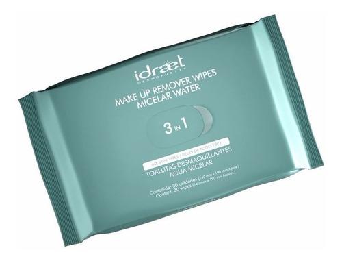 idraet agua micelar toallitas desmaquillante make up remover