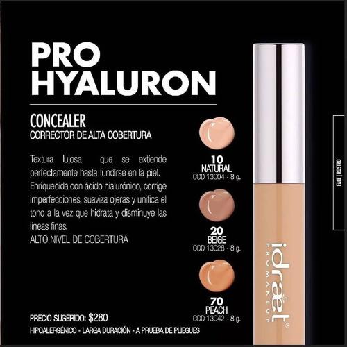 idraet pro hyaluron concealer corrector ojeras make up