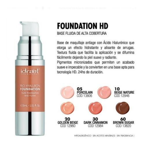 idraet pro hyaluron foundation base fluida hd make up