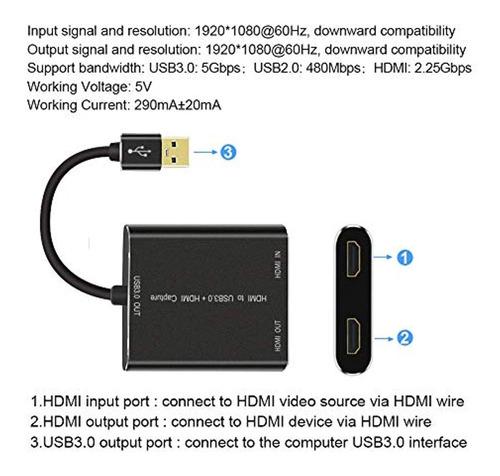 if-link captura hdmi, hdmi a usb 3.0, full
