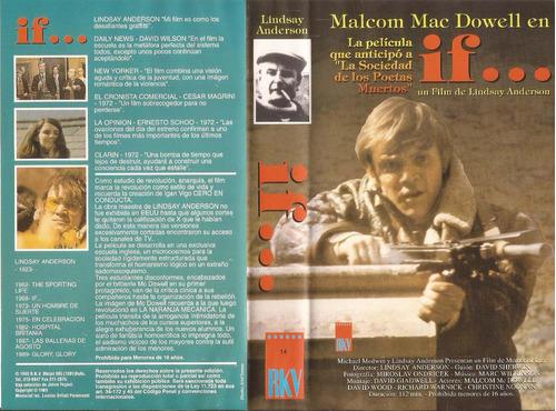 if... malcom mac dowell lindsay anderson vhs