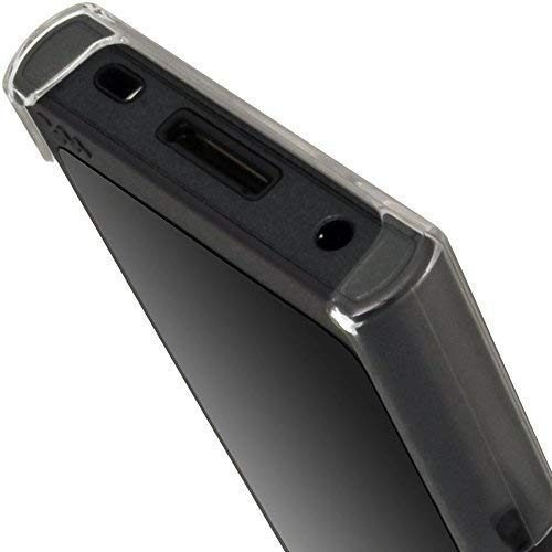 igadgitz clear pc hard back case para sony walkman nwa35