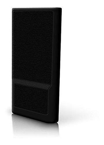 igadgitz funda de gel de silicona negra para sony walkman