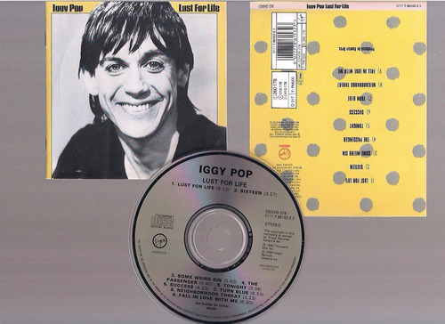 iggy pop - lust for life -  cd - by maceo