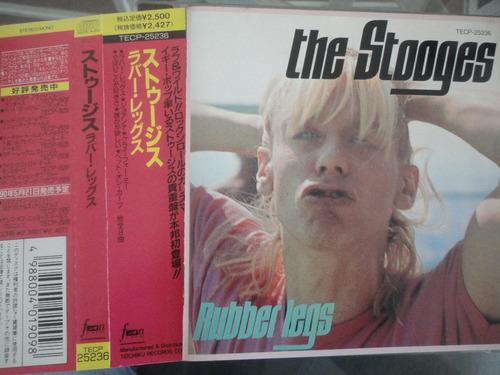 iggy pop & stooges - rubber legs 1973-1974 cd japonês c/ obi