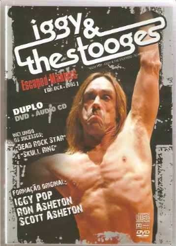 iggy & the stooges escaped maniacs dvd + cd (duplo)