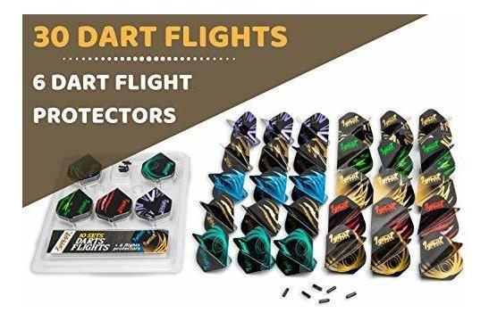 IgnatGames Plumas y Accesorios de Dardos Juego de Plumas de Dardos con Diferentes Formas y Protectores Kit de Accesorios de Dardos