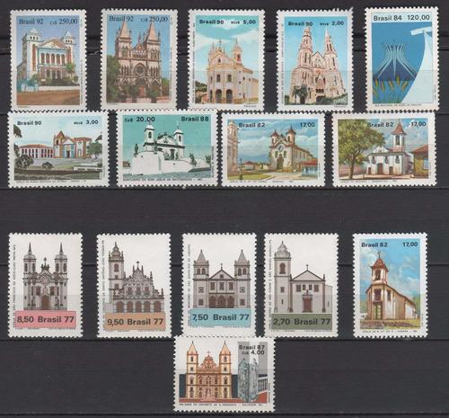 igrejas - coleção de selos novos brasileiros  - 7120