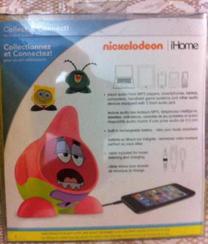 ihome bocina para iphone ipad ipod mp3 patricio disney hulk