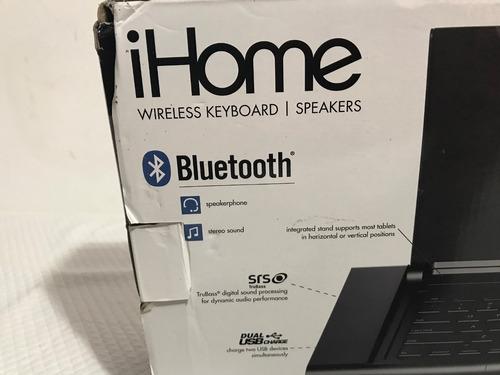 ihome teclado bluetooth con bocinas y contestador de llamada