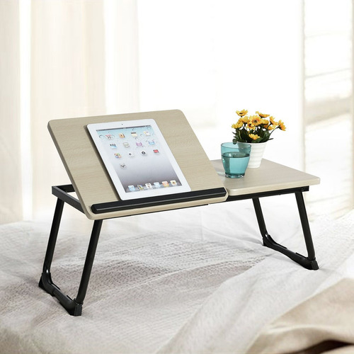 ihouse mesa portátil con soporte para cama portátil me...