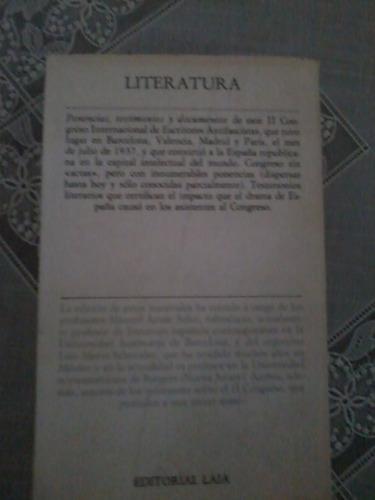 ii congreso internacional de escritores antifascistas 1937