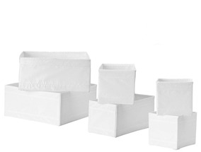 Organizador Ikea Almacenamiento Bin Caja Cajón Tote18Bl 0wPn8Ok