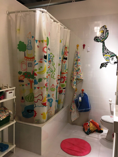 ikea - cortina sueca de baño badbäck antihongos