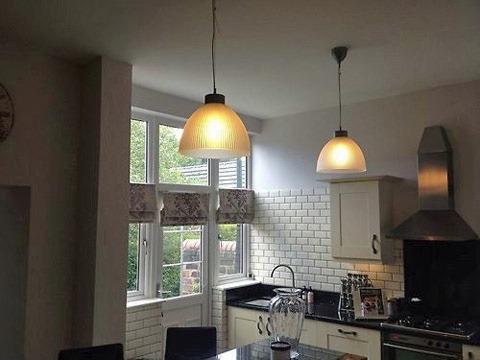Ikea kalcium l mpara de techo pendant cocina en for Lamparas de cocina ikea
