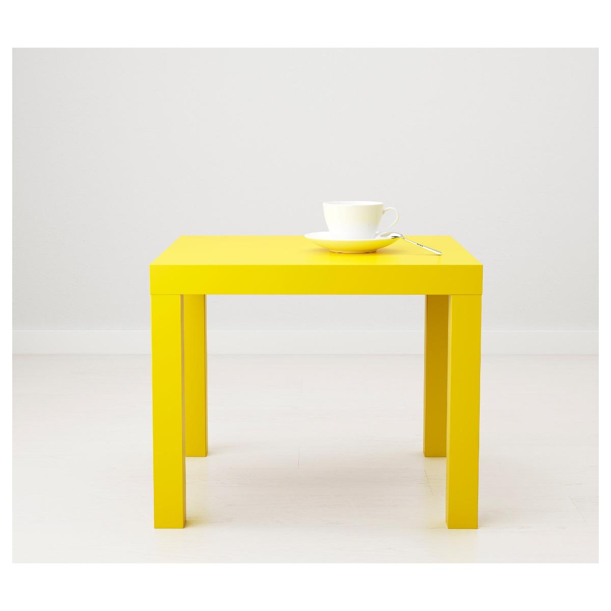Ikea Lack Mesa Auxiliar Amarillo 1 050 00 En Mercado