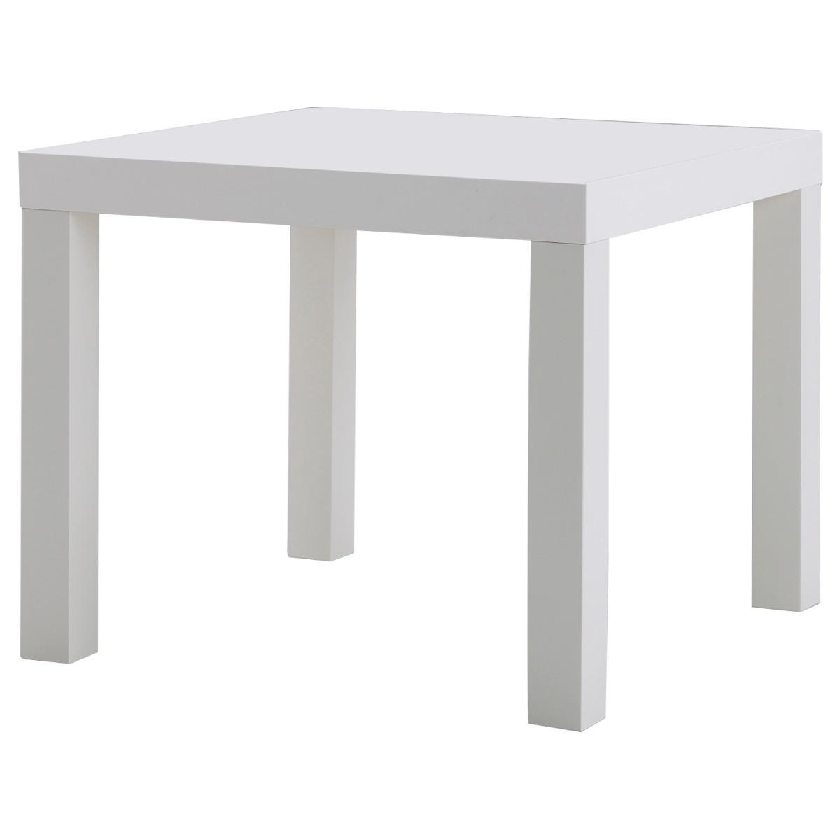 Ikea lack mesa auxiliar blanca en mercado libre for Mesa auxiliar plegable ikea