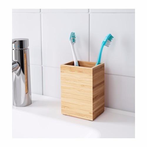 ikea porta cepillos de dientes sueco dragan bamb macizo