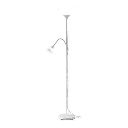 Ikea suelo aplique l mpara de lectura blanca 1 840 for Lampara blanca ikea
